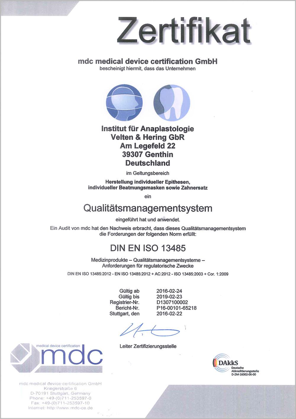 mdc-Zertifikat